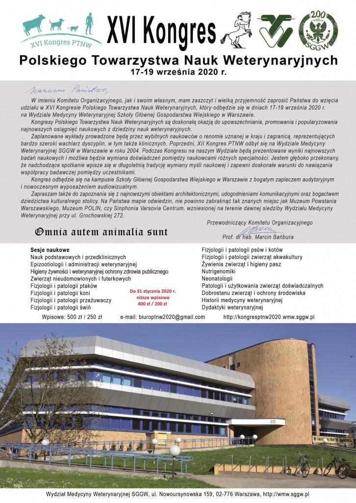 068-05-20 Plakat Informacja o Kongresie PTNW 2020